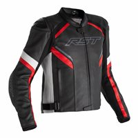 RST Sabre Airbag CE Leather Jacket 2529 (Black/White/Red)