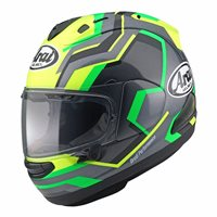 Arai RX-7V RSW Helmet (Fluo Yellow/Grey/Green)