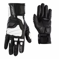 RST Turbine CE Leather Gloves 2669 (Black/White)