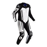 RST Pro Series Airbag CE One Piece Leathers 2520 (White/Black)