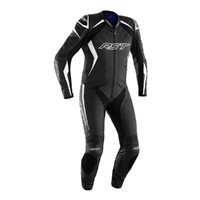 RST Podium Airbag CE One Piece Leathers 2522 (Black/White)