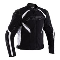 Sabre CE Textile Jacket 2556 (Black/White) by RST