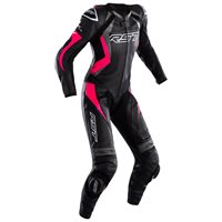 RST Tractech Evo 4 CE Ladies Leather One Piece Suit 2535 (Black/Grey/Pink)