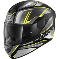 Shark D-Skwal 2 Daven Helmet (Matt Black/Anthracite/Yellow)
