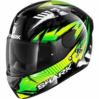 Shark D-Skwal 2 Penxa Motorcycle Helmet (Black/Green/Yellow)