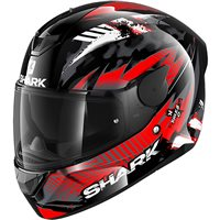 Shark D-Skwal 2 Penxa Motorcycle Helmet (Black/Red/Anthracite)
