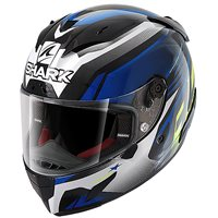 Shark Race R Pro Aspy Motorcycle Helmet (Black/Blue/Yellow)