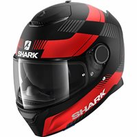 Shark Spartan 1.2 Strad Helmet (Matt Black/Red)