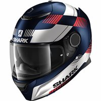 Shark Spartan 1.2 Strad Motorcycle Helmet (Matt Blue/White/Red)