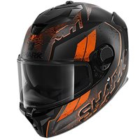 Shark Spartan GT Ryser Helmet (Matt Black/Orange)