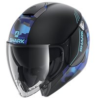 Shark Citycruiser Genom Open Face Helmet (Matt Black/Blue)