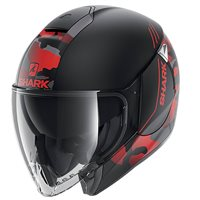 Shark Citycruiser Genom Open Face Helmet (Matt Black/Red)