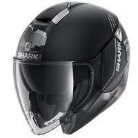 Shark Citycruiser Genom Open Face Helmet (Matt Black/Silver)