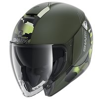 Shark Citycruiser Genom Open Face Helmet (Matt Green/Black)