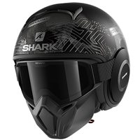 Shark Street Drak Krull Open Face Helmet (Matt Black/Anthracite)