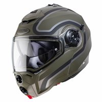 Caberg Droid Pure Flip Front Helmet (Matt Green/Black/Anthracite)