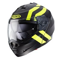 Caberg Duke II Super Legends Flip Front Helmet (Matt Black/Yellow)