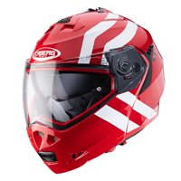 Caberg Duke II Super Legends Flip Front Helmet (Red/White)
