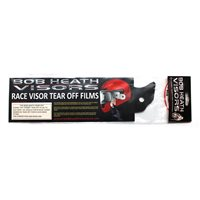Bob Heath  Visor Tear Offs Dark Tint Universal Fit