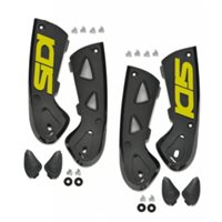 Sidi Vortice Ankle Support Braces (Black/Fluo Yellow)