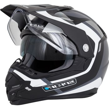 Spada Intrepid Adventure Motorcycle Helmet (Black|White|Silver)  - Click to view larger image