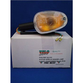 Velo Sport Winker Lamp Aprilia 8127536 Clear RF/LR [Pair] WL535  - Click to view larger image