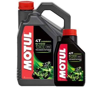MOTUL 5100 10w30 High Performance Semi Synthetic Oil MOTUL 5100 10w-30 - Click to view larger image
