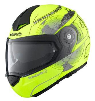 Schuberth c3 pro helmet (black) vector light blue series.