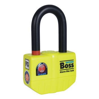 Oxford BOSS ALARM Disc Lock (14mm Shackle)  - Click to view larger image