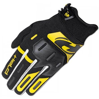 Held Hardtack Kids Motocross Gloves (Black/Yellow)  - Click to view larger image