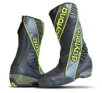 Daytona Security Evo 3 Race Boots (Black/Gun/Yellow)  - Click to view larger image