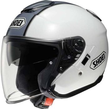 Shoei  J-Cruise CORSO TC-6 Open Faced Helmet (White/Grey) Shoei J-Cruise CORSO Open Faced Helmet White Grey - Click to view larger image