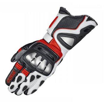 held titan evo motorcycle gloves red white the visor. Black Bedroom Furniture Sets. Home Design Ideas