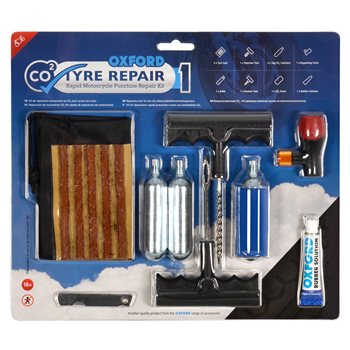 Oxford CO2 Tyre Repair 1 Kit Oxford-CO2-Tyre-Repair-1-Kit - Click to view larger image