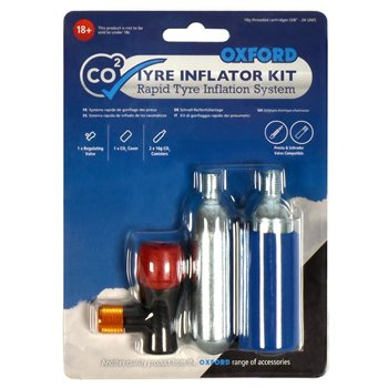 Oxford CO2  Tyre Inflation Kit Oxford-CO2-Tyre-Inflation-Kit - Click to view larger image