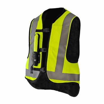 Helite Turtle Shell Motorcycle Airbag Vest (Hi Viz)   - Click to view larger image
