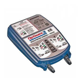 Optimate 3 DUAL BANK Battery Charger  - Click to view larger image