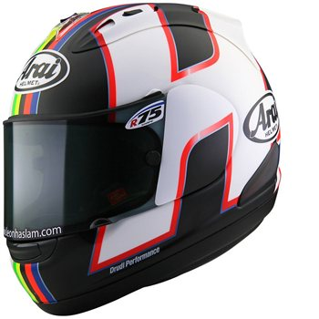 Arai RX-7V HASLAM BLACK Motorcycle Helmet  - Click to view larger image