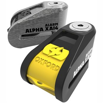Oxford Alpha XA14 ALARM Disc Lock - All Colours  - Click to view larger image
