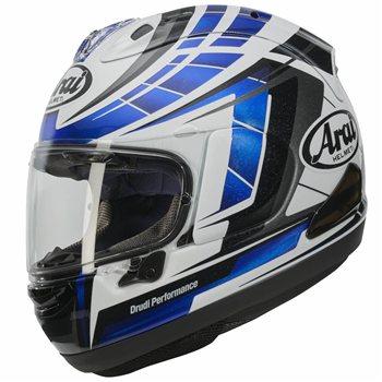 arai rx 7v motorcycle helmet planet blue the visor. Black Bedroom Furniture Sets. Home Design Ideas