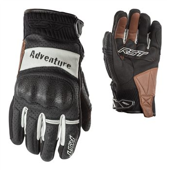Review Rst Adventure Ce Motorcycle Glove 2109 Black Silver The