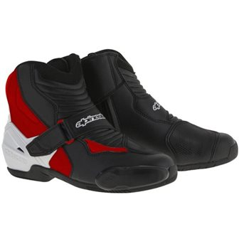 Alpinestars SMX-1R Motorcycle Boot (Black/White/Red) Alpinestars SMX-1R Motorcycle Boot Black-White-Red - Click to view larger image