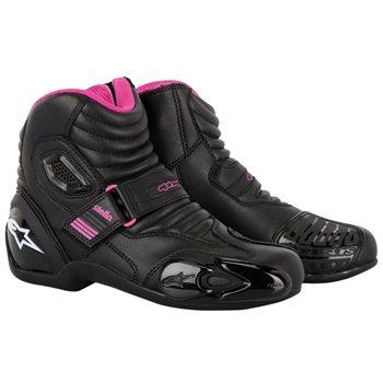 Alpinestars Stella SMX-1R Ladies Boot (Black/Fuchsia)  - Click to view larger image
