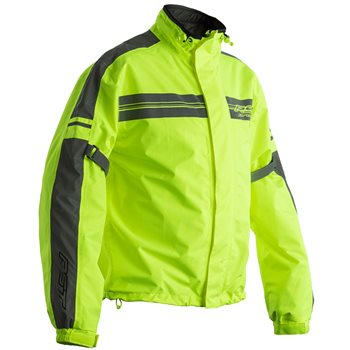 Richa Warrior Mens Black Fluo Yellow Motorcycle Rain Over Jacket