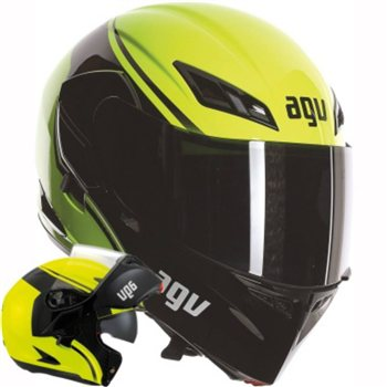 AGV COMPACT ST Course (Yellow/Black) AGV-COMPACT-COURSE-Flip-Front-Helmet-Yellow-Black - Click to view larger image