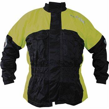 Richa Rain Warrior Jacket (Black/Fluo Yellow)   - Click to view larger image