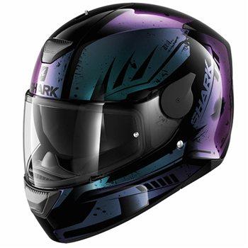 0b210e18 Shark D-Skwal Motorcycle Helmet DHARKOV (Black/Violet) | The Visor Shop.com