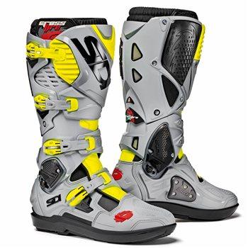 973470c68de Sidi Crossfire 3 SRS Motocross Boots (Black Ash Fluo Yellow) - Pulse