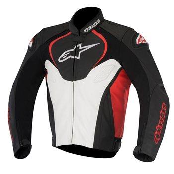 Alpinestars Motorcycle Jacket >> Alpinestars Jaws Leather Motorcycle Jacket Black White Red The
