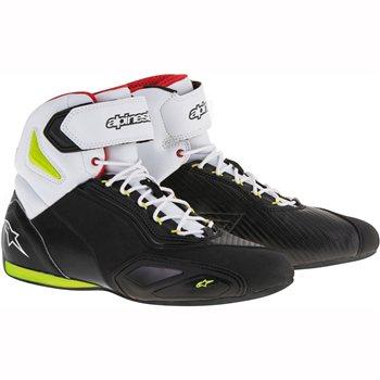 Alpinestars Faster 2 Motorcycle Shoe (Black Yellow Red) Alpinestars Faster  2 Motorcycle cd18363b3af1